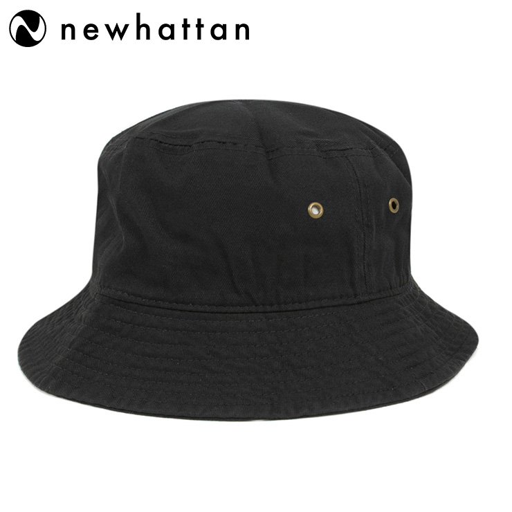 f070704b3d527f New Hatten bucket Hat stone washed Black Hat NEWHATTAN BUCKET HAT STONE  WASHED BLACK [Hat ...