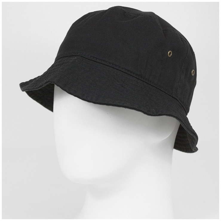 ca27e1ec53d220 ... New Hatten bucket Hat stone washed Black Hat NEWHATTAN BUCKET HAT STONE  WASHED BLACK [Hat ...