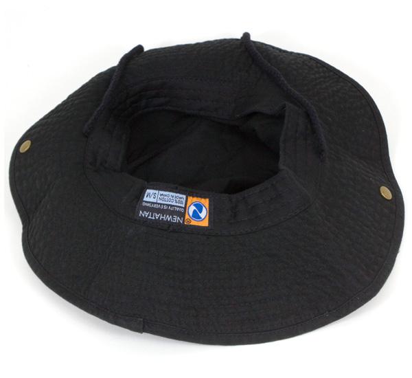 d44f2523eba158 ... New Hatten Safari Hat stone washed Black Hat NEWHATTAN SAFARI HAT STONE  WASHED BLACK [Hat ...