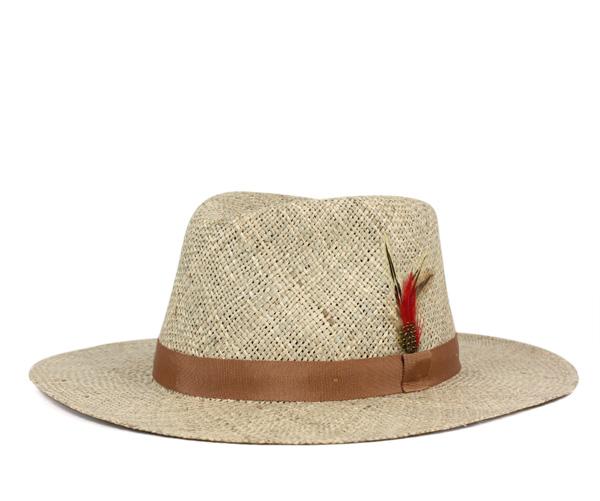ニューヨークハット(NEW YORK HAT)シーグラス トラベラー ナチュラル 帽子 SEA GRASS TRAVELER NATURA 麦わら帽子 ストローハット || メンズ帽子 おしゃれ 夏 【返品・交換対象外】