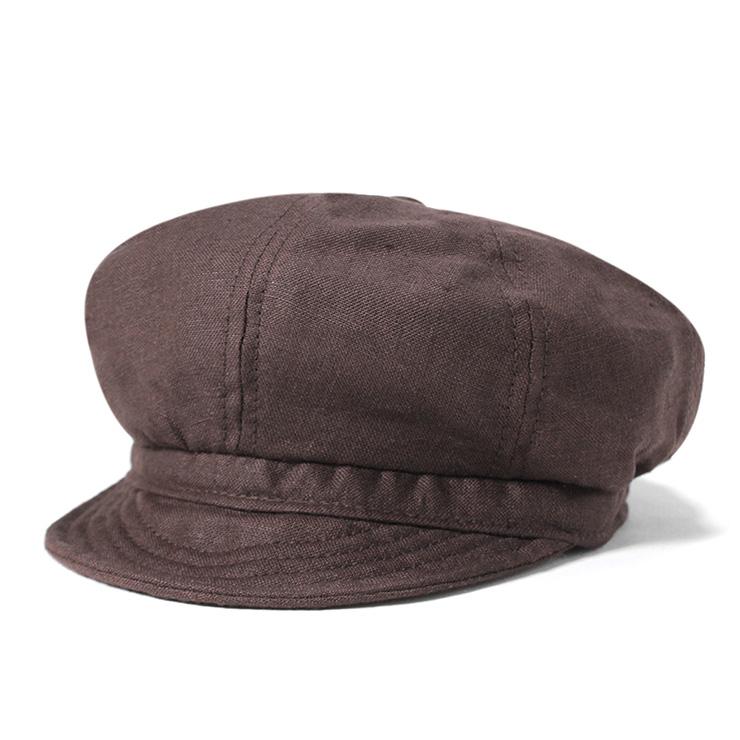 纽约的帽子亚麻帽布朗 NEWYORKHAT 亚麻喷火式战斗机布朗 #CP 纽约帽子帽棺材报童帽子帽子纽约大型男装女装,[BN]
