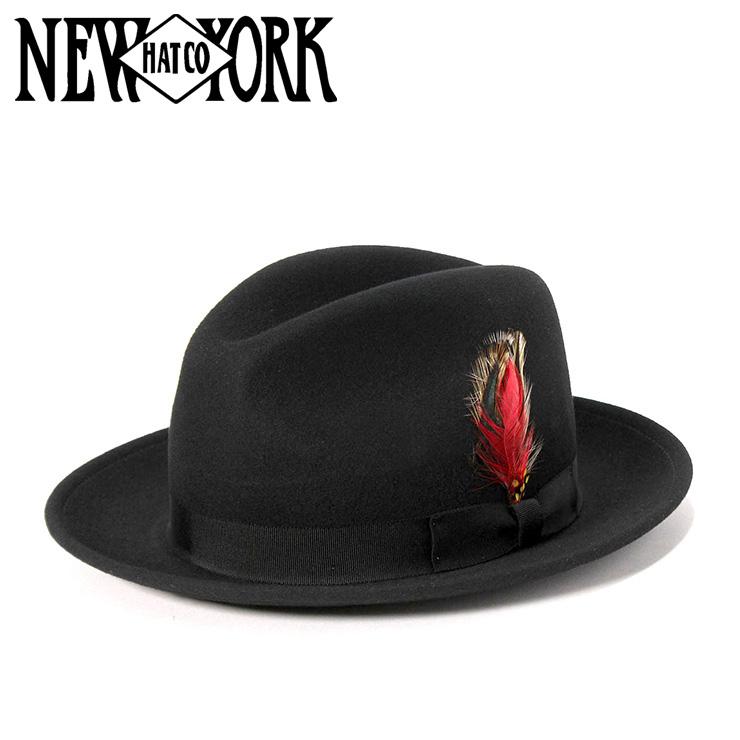 ニューヨークハット フェドラハット ブラック NEW YORK HAT m02-nyhh