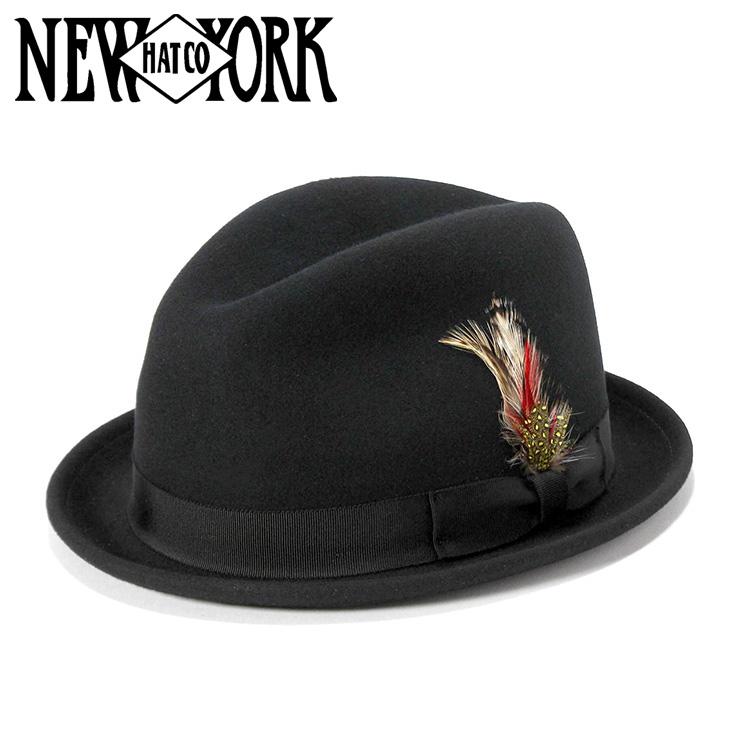 ニューヨークハット フェドラハット PINCHED STINGY ブラック NEW YORK HAT