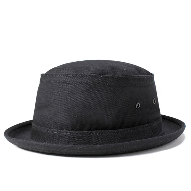 New York Hat canvas スティンジー black NEW YORK HAT CANVAS STINGY BLACK