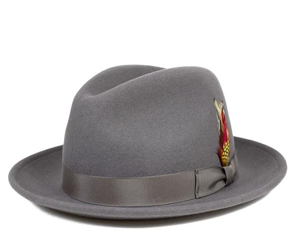 ニューヨークハット(NEW YORK HAT)フェドラハット グレーFEDORA HAT GREY帽子 メンズ レディース