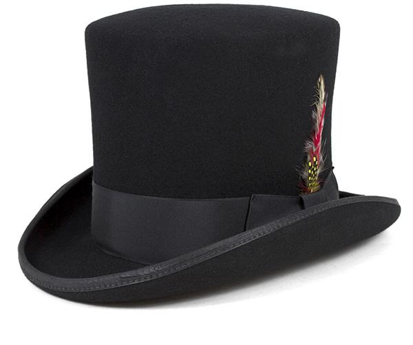 ニューヨークハット(NEW YORK HAT)マッド ハッター ブラック 帽子 MAD HATTER BLACK【返品・交換対象外】