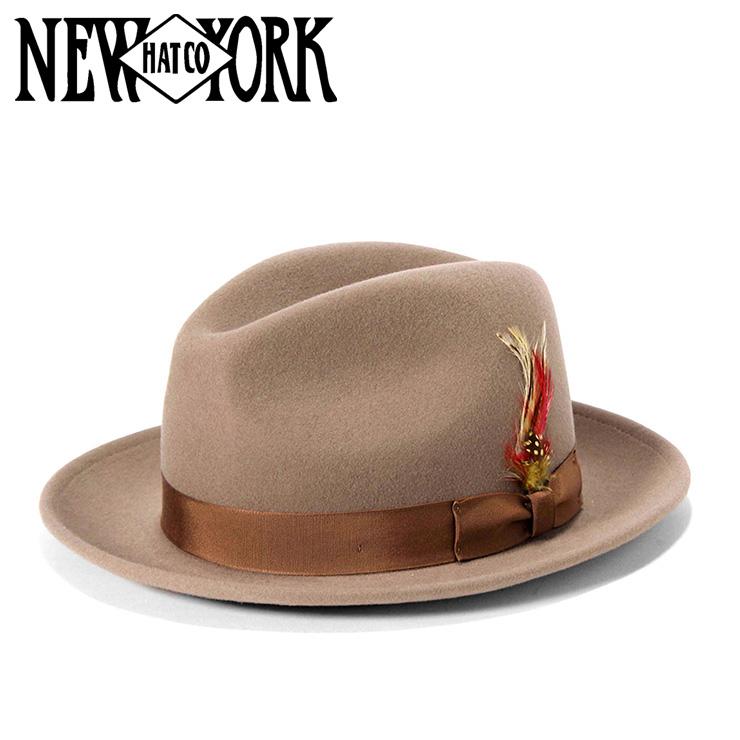 ニューヨークハット フェドラハット THE FEDORA フェルト アーモンド ブラウン NEW YORK HAT m02-nyhh