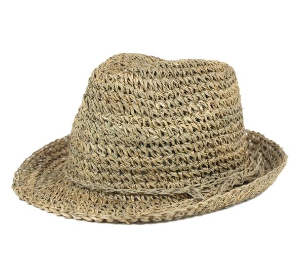 New price! New York Hat seagrass Fedora natural NEW YORK HAT SEA GRASS FEDORA NATURAL #WN: S #HA: S