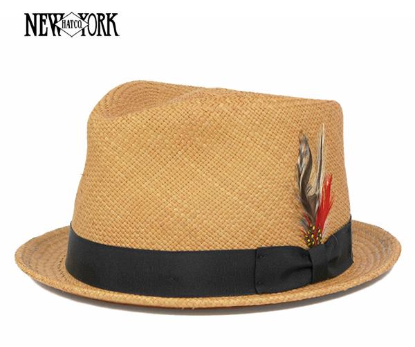 ニューヨークハット(NEW YORK HAT)パナマ ティアドロップ 中折れ プティー 帽子 NEWYORK HAT PANAMA T-DROP PUTTY 麦わら帽子 ストローハット メンズ || 中折れ帽 夏 麦わら ハット 【返品・交換対象外】