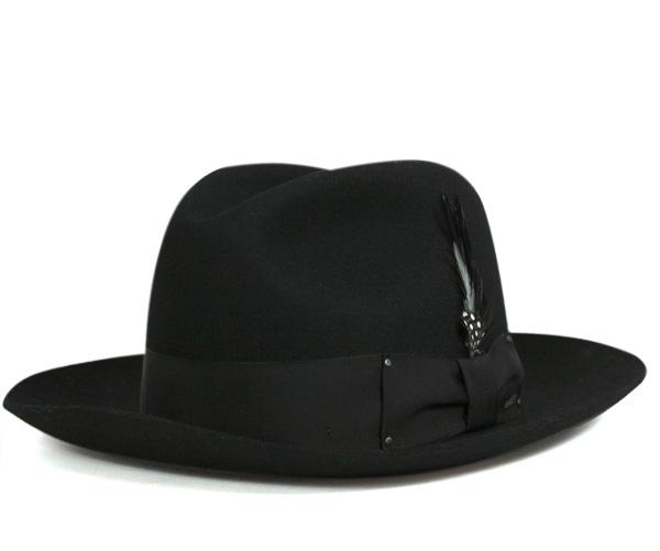 ベイリー(Bailey Hats)ハット ギャングスター 中折れ フェルトブラック 帽子 HAT GANGSTER BLACK メンズ
