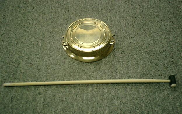当り鉦 (チャンチキ・摺り鉦)シモク付 4.0寸 (外径:約10.7cm)