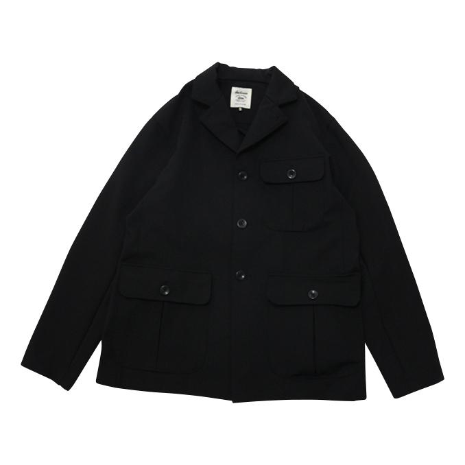 ジャックマン JACKMAN Jersey Umps Jacket Black ジャージーエンパイアジャケット