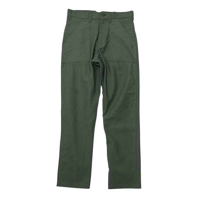 スタンレイ Slim Fit 4Pocket Fatigu Pants Olive Satin スリムフィットファティーグパンツ
