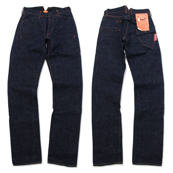 カトー 尾錠付きデニム KATO' BUCKLE BACK DENIM PANTS P-21AOW