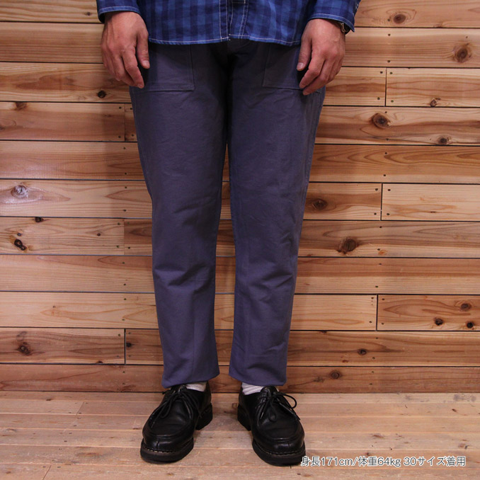 Stan Ray (Stan lei) SLIM FIT 4POCKET FATIGUE PANTS Garage Blue slim fitting  4 pocket F Teague underwear 2d19f9af857