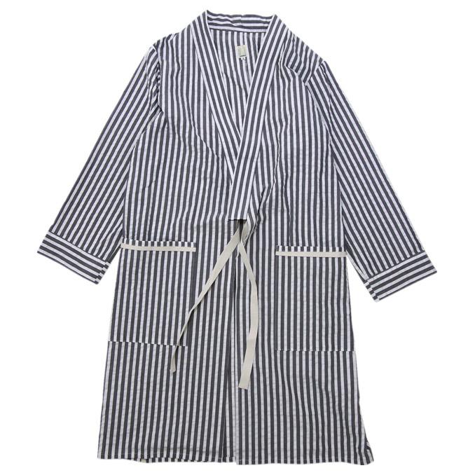 タタミゼ TATAMIZE Room Gown Black Stripe ルームガウン コート