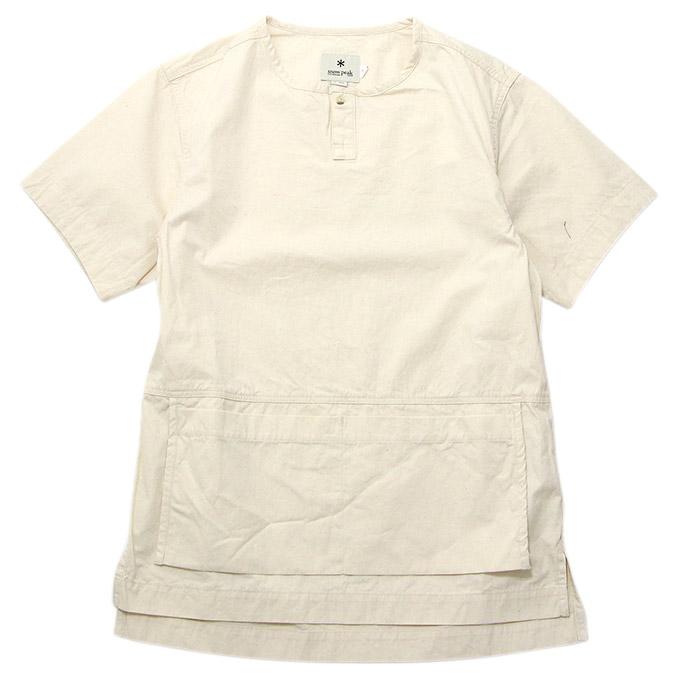 スノーピーク Snow Peak Sailor Cloth Apron Shirt Ecru セーラークロスエプロンシャツ