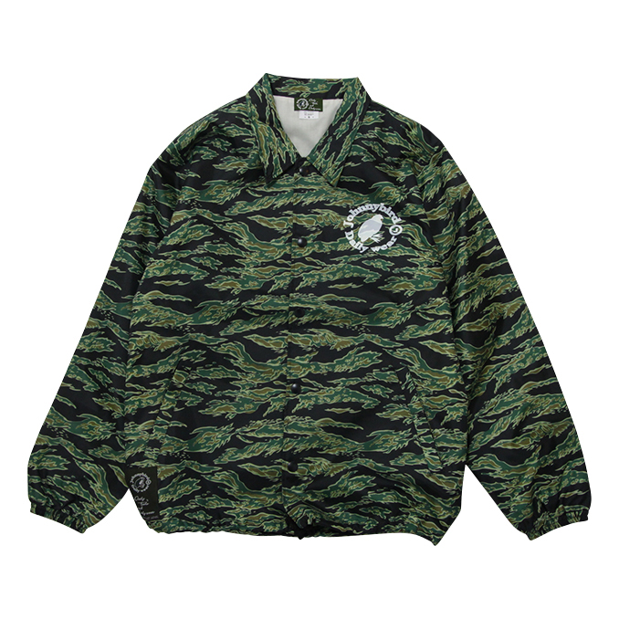 ジョニーバード デイリーウェア Johnny Bird Daily Wear LOGO COACH JACKET Tiger Camo ロゴコーチジャケット ジャケット