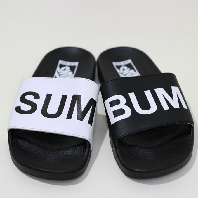 VANS(卡车)SURF Slide-On SUMMER BUMMER suraidoonsamabamasandaru