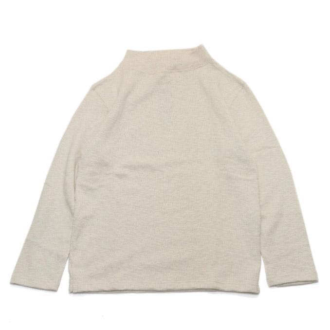 ティージーオーセンティッククラシック モックネックシャツ tieasy AUTHENTIC CLASSIC Mock Neck Shirt Natural