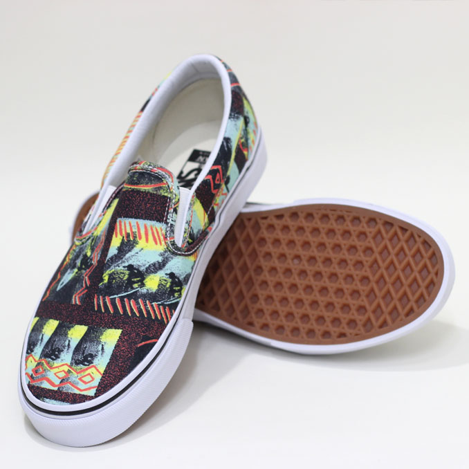 VANS (vans) Van Doren Slip-On HOFFMAN Red Vandoren slip-on Hoffman fabrics