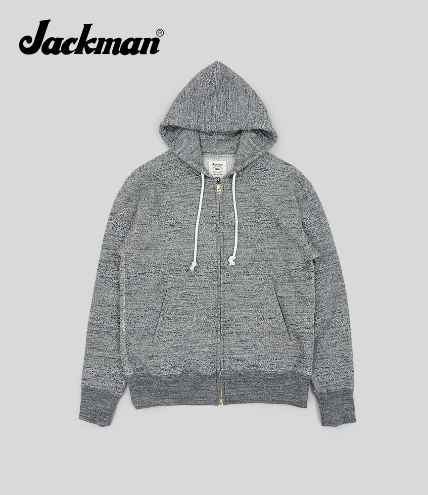 ジャックマン スウェットジップアップパーカ Jackman GG Sweat Parka JM7873 Charcoal