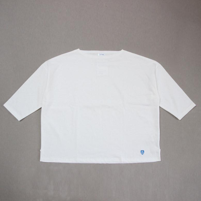 オーシバル コットンモヨン ボートネック七分袖Tシャツ ORCIVAL B439 WOMEN オーチバル