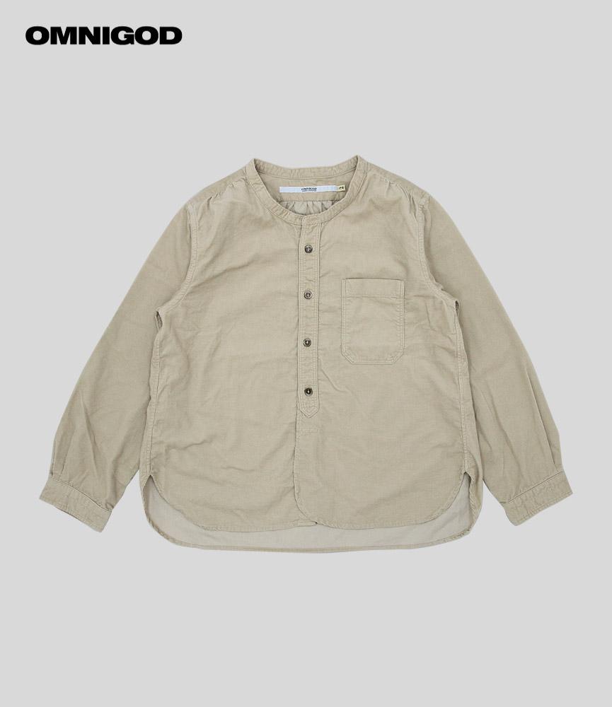 ビッグ割引 オムニゴッド OMNIGOD シャツコールスタンドカラーシャツ BEIGE, CuoreCuore 5ca5af9e