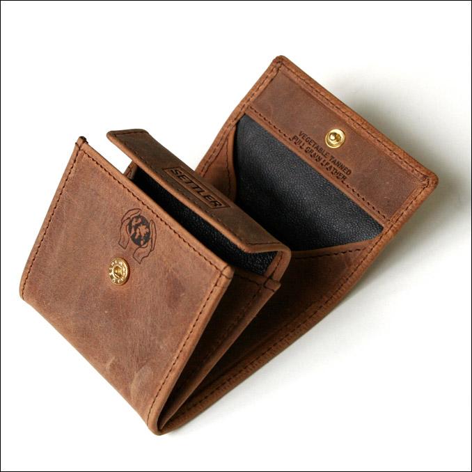 SETTLER (settler) men's leather wallet OW-890 COIN PURSE Brown wallet men's