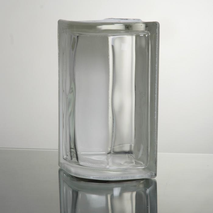 ガラスブロック 送料無料 6個セット 高品質 80mm厚 コーナーブロックA