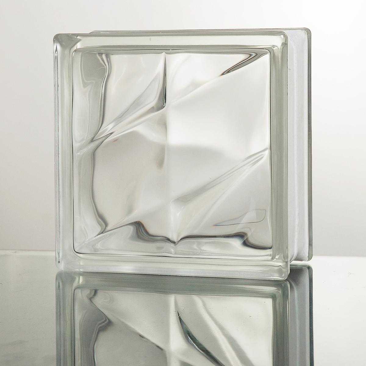 ガラスブロック 送料無料 6個セット 高品質80mm厚 クリア色ダブルスター
