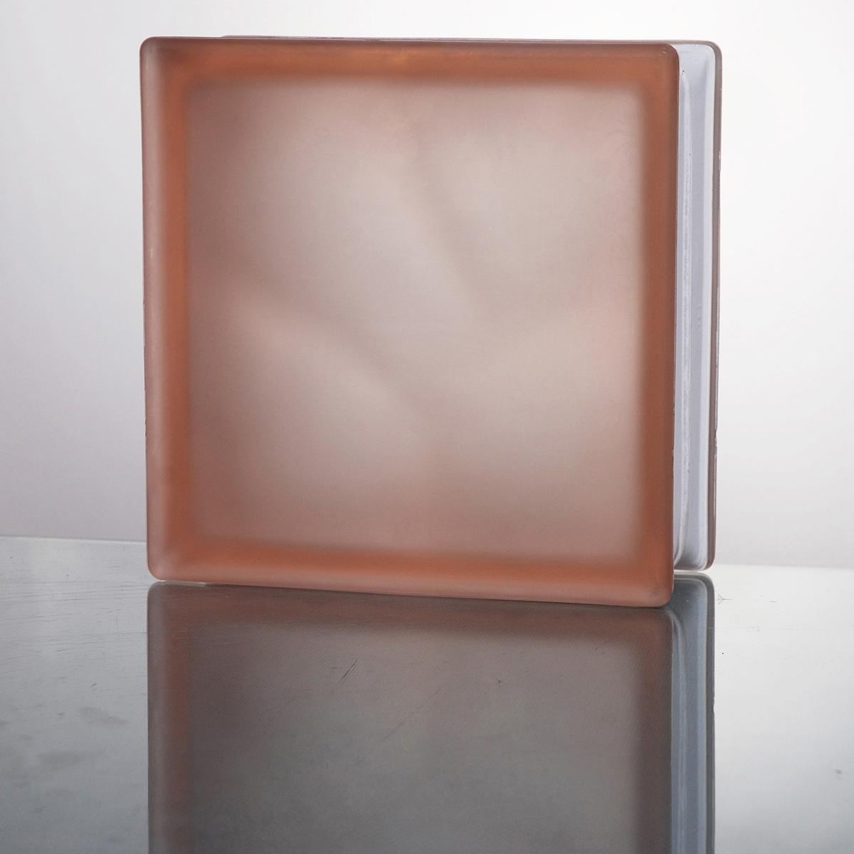 ガラスブロック 送料無料 6個セット 高品質 80mm厚 ミスティクラウディピンク