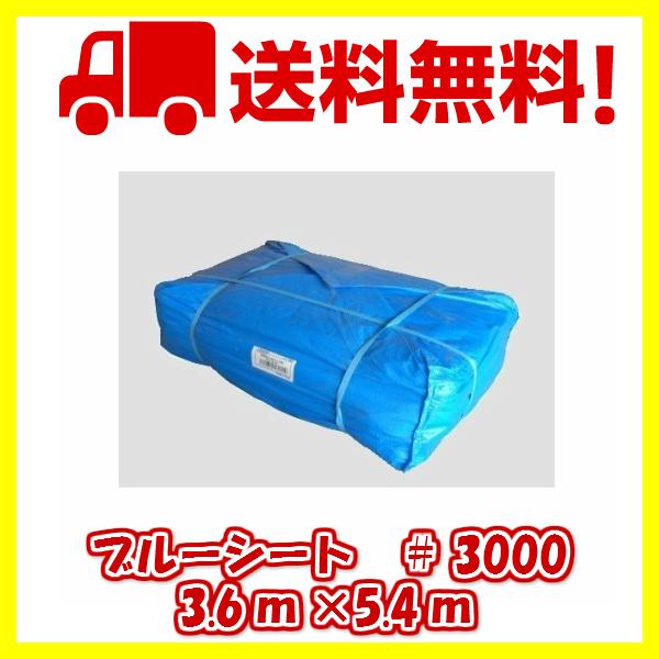 ブルーシート #3000タイプ 3.6m×5.4m 10枚組 厚手ブルーシート 送料無料