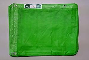 防炎メッシュシート 1.8×5.4 10枚入り グリーン ネットシート 送料無料 防炎メッシュ