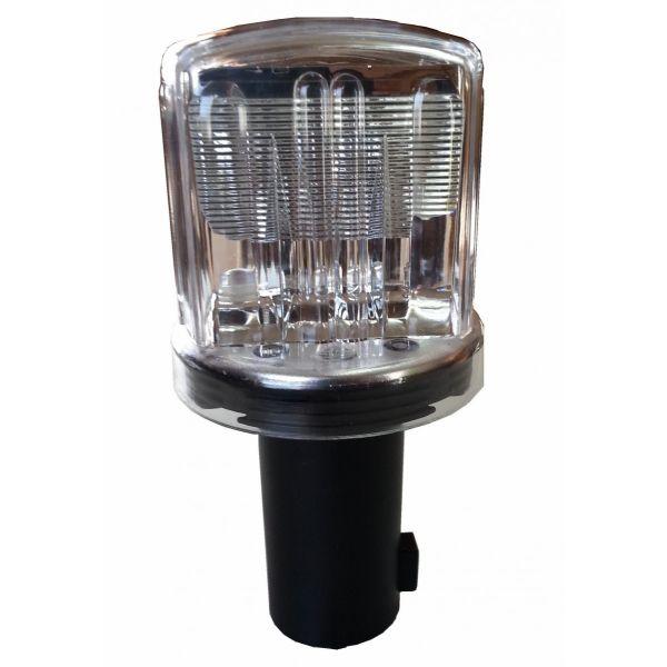 ソーラー保安灯 10個セット ソーラーブルー LED工事灯 赤・青点滅 LED保安灯