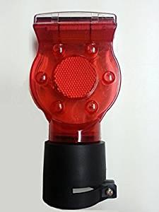 ソーラー工事灯 10個セット 赤 保安灯 ソーラー式 LED工事灯 LED保安灯