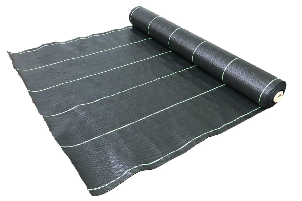 防草シート 4本セット 1m×50m 黒 雑草防止シート UV剤配合 送料無料 砂利