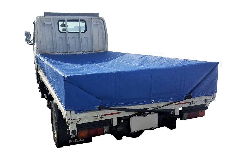 トラックシート 2tトラック 2.3m×3.5m 厚手 ブルー 荷台カバー エステル帆布