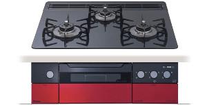 【パロマ】【PD-900WR-60CK】ビルトインコンロ|クレアシリーズ|ハイパーガラスコートトップ|無水両面焼グリル|3V乾電池電源|トップカラー:クリアパールブラック|天板幅60cm