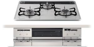 【パロマ】【PD-AF61WV-60CV】ビルトインコンロ|ブリリオシリーズ|ハイパーガラスコートトップ|無水両面焼グリル|3V乾電池電源|トップカラー:ティアラシルバー|天板幅60cm