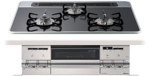 【パロマ】【ビルトインコンロ】|ブリリオシリーズ|PD-701WS-75CK|ハイパーガラスコートトップ|トップカラー:クリアパールブラック|巾75cm用|