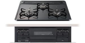 【パロマ】【PD-N34】ビルトインコンロ|スタンダードシリーズ|ホーロートップ|無水片面焼グリル|3V乾電池電源|トップカラー:ニュートラルグレー|天板幅60cm