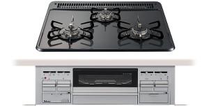 パロマ|ビルトインコンロ|スタンダードシリーズ|ホーロートップ|無水片面焼グリル|3V乾電池電源|トップカラー:ニュートラルグレー|PD-N34WV|天板幅60cm