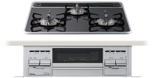 【パロマ】【PD-N60WV-60CK】ビルトインコンロ|エスシリーズ|ハイパーガラスコートトップ|無水両面焼グリル|3V乾電池電源|トップカラー:クリアパールダークグレー|天板幅60cm