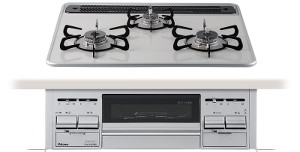 【パロマ】【PD-N60WV-60CV】ビルトインコンロ|エスシリーズ|ハイパーガラスコートトップ|無水両面焼グリル|3V乾電池電源|トップカラー:ティアラシルバー|天板幅60cm