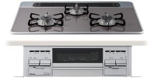 パロマ|ビルトインコンロ|エスシリーズ|ハイパーガラスコートトップ|無水両面焼グリル|3V乾電池電源|トップカラー:クリアパールダークグレー|PD-N60WV-75CD|天板幅75cm
