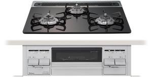 パロマ|ビルトインコンロ|エスシリーズプラス|グレースブラック|無水両面焼グリル|3V乾電池電源|トップカラー:シルバー|PD-N64WV-60GK|天板幅60cm