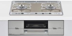 【リンナイ】【RHS21W26S11RV-LR】ビルトインコンロ|ユーディア・エフシリーズ|ガラストップ|無水両面焼グリル|3V乾電池電源|トップカラー:ミストシルバー|天板幅60cm