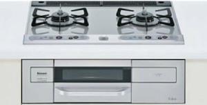 リンナイ|ビルトインコンロ|ユーディアシリーズ|セランガラストップ|無水両面焼グリル|AC100V電源|トップカラー:クリアグレージュ|RHS21W4D8V2-S-LR|天板幅60cm