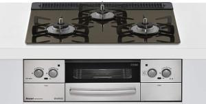 リンナイ|ビルトインコンロ|リッセシリーズ|セランガラストップ|無水両面焼グリル|3V乾電池電源|トップカラー:グラデーションブラウン|RHS31W23L9RSTW|天板幅60cm